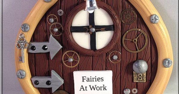 Fairies at work steampunk fairy door steampunk fairy for The works fairy door