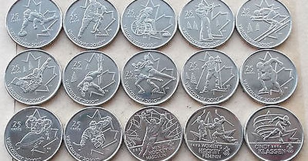 CANADA 2010 VANCOUVER OLYMPICS BU UNC COIN SET DISPLAY COMPLETE 20 COINS