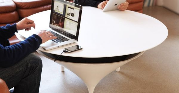 4-Acoustable: This coffee table doubles as a speaker. That's right, a gigantic