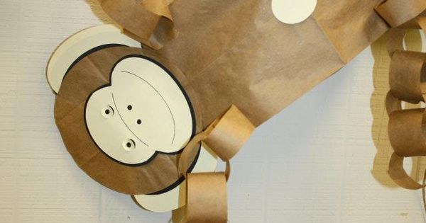 Paper Bag Construction Paper Rings And A Face And You