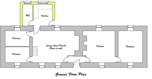 Ground floor plan for the traditional irish linear farm for Columbia flooring melbourne ar