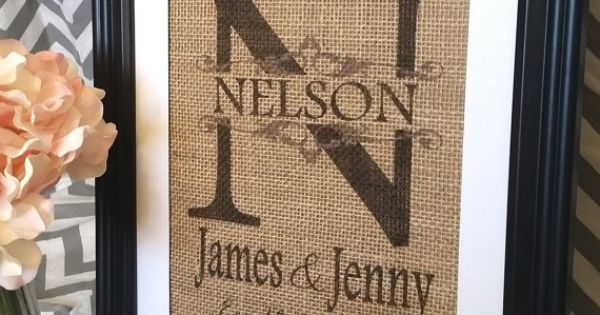... Gift- Unique Gift For Couple, Burlap Print, Newlywed Gift Wedding