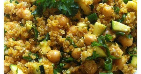 Zucchini Chickpea Quinoa Salad   Recipe   Onions, Protein and The rich