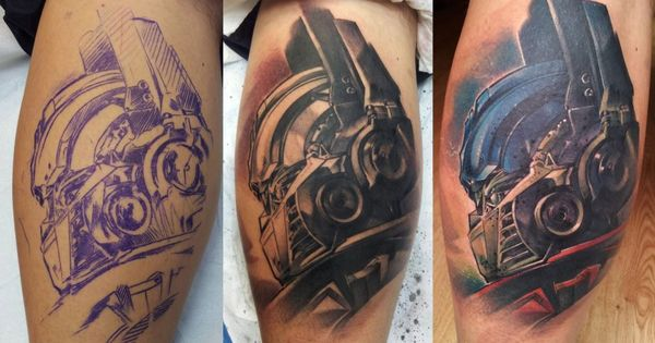 Transformers fans here here s one tattoo done at skin lab for Ink lab tattoo