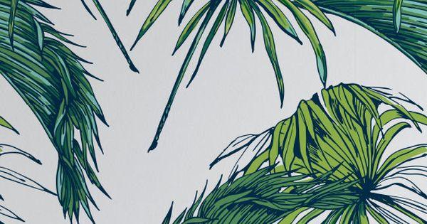 palmiers tropicaux de motif papier peint papier peint amovible exotique feuilles de papier. Black Bedroom Furniture Sets. Home Design Ideas