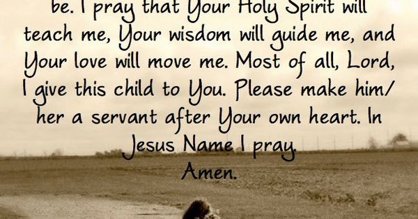 A Parent's Prayer amen. God help me!