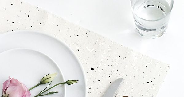 DIY Speckled Placemats | DIY and crafts