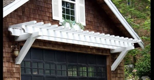 Pergola over the garage black front doors offices and for Eyebrow pergola plans