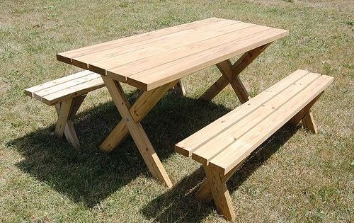 Love This Diy Picnic Table And Bench Http Diydiva Net 2009 07 Weekend Diy Picnic Table Project Diy Picnic Table Build A Picnic Table Wooden Picnic Tables