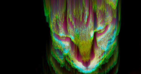 Glitch_art: Moog, the glitch cat Art Print by Geso - $45.76