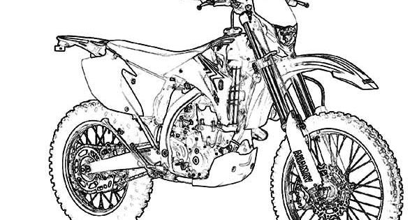 yamaha wr450f motorcycle coloring page