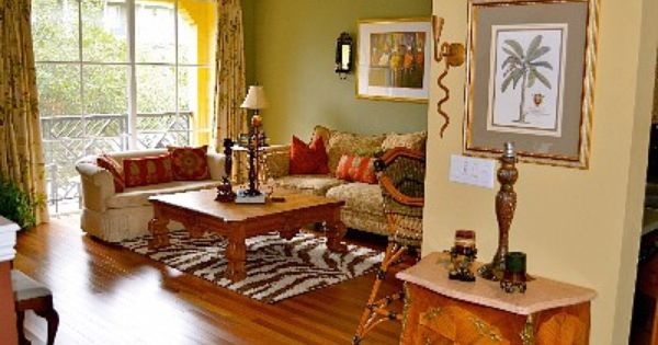 Delray Beach Townhome Rental British Colonial Decor With Original Artworks British Colonial Decor Colonial Living Room Decorating Small Spaces