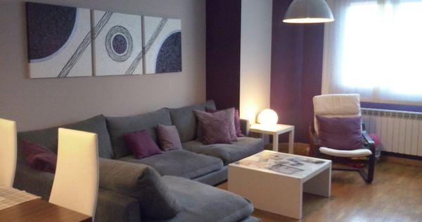 Ideas para decorar las paredes en morado decorar tu casa - Decorar paredes facil ...