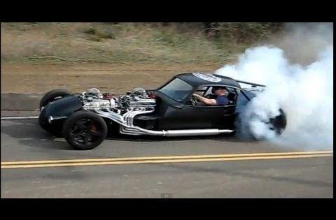V16 Hot Rod Twin V8 Doing A Burnout Part 2 Hot Rods Hot Rod