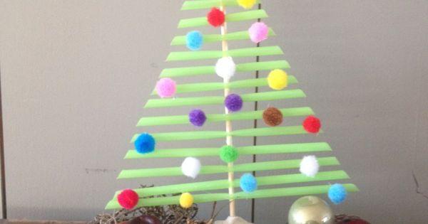 Een kerstboom knutselen van rietjes met deze beschrijving ...