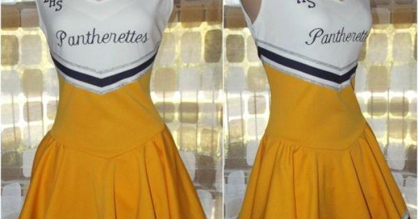 Rlhs Cheerleader Uniform Dress Gold Navy Pantherettes
