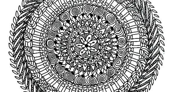 Free Mandalas Page «mandala-to-color-flowers-vegetation-to-print (3)».