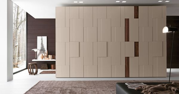Scenic enclosed modern white polished wooden built in for Wardrobe interior designs catalogue