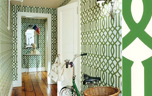 green trellis wallpaper schumacher - photo #12