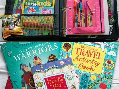 DIY Kids Travel Activity Kits for travel, road trip, and long car
