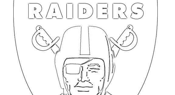 Oakland raiders logo coloring page the for Oakland raiders logo coloring page