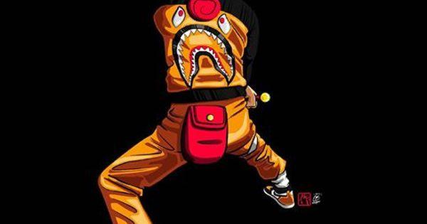 Nike Trill Dope Cartoons Drawings: Pin By II Yeezy God II On Supreme,Bape