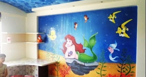 Cartoon Painting Kids Bedroom Wall Painting Artist In Pune Mumbai Bedroom Paint Design Kids Bedroom Walls Room Wall Painting