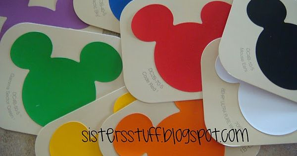 "Make a ""My Colors Book"" out of Disney paint chip samples...you could"