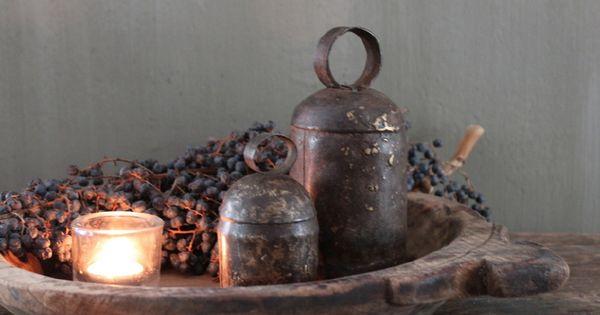 Oude geitenbel s antiek brocante huis haard pinterest haard decoratie en huisdecoratie - Oude huisdecoratie ...