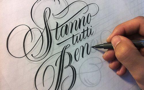 stanno tutti bene - luca barcellona.. Lovely tattoo font.