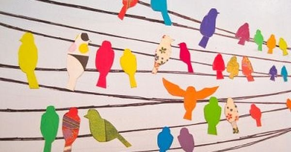 birds on a wire... inspiration for the craft room... i'm thinking black
