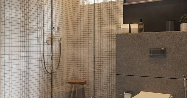 Cabine de douche l 39 italienne avec carrelage mural r tro - Carrelage mural douche italienne ...
