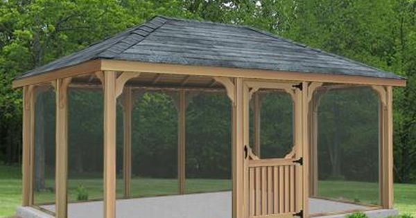 8 X 14 Cedar Rectangular Gazebo Patio Gazebo Gazebo Plans