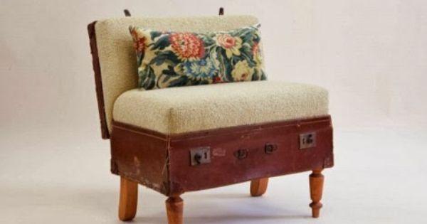 Muebles Hechos De Maletas Viejas Muebles Y Mas Muebles Antiguos Muebles Muebles Reciclados