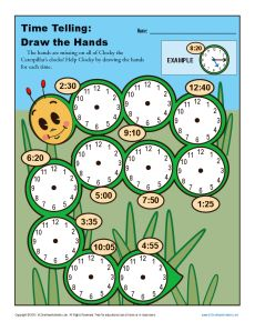 Time Telling Draw The Hands 2nd Grade Telling Time Worksheets Time Worksheets 2nd Grade Worksheets Telling Time Worksheets