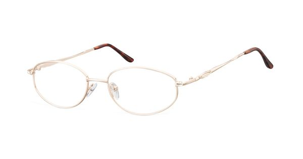 Megabrille Modell 795c Brille In Shiny Gold Brille Gold Modell