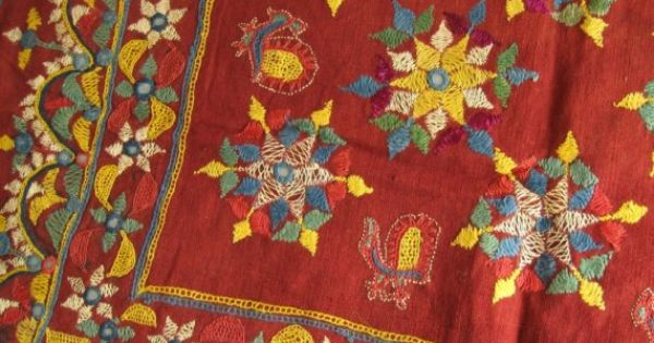 Kutch embroidery antique folk art by threadsofold on