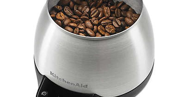 KitchenAid KCG0799SX Digital Scale Jar Burr Grinder Accessory-Brushed Stainless Steel