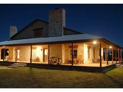Texas ranch house plans mason lodge rental bar none for Texas ranch house plans with porches