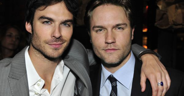 "Ian Somerhalder (""THE VAMPIRE DIARIES"") and Scott Porter (""HART OF DIXIE"") at"