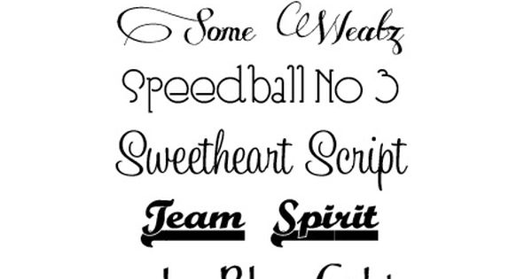Favorite Fonts List 3 ~ Great scrapbooking fonts. Download links @: http://blog.signaturescrapbooks.com/2011/10/favorite-fonts-list-3.html