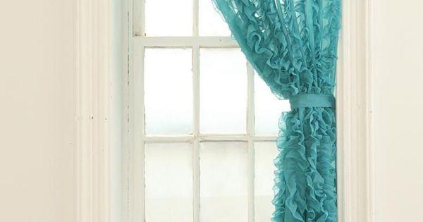 vorh nge t rkis organza gardinen ruschen schleife gardinen ideen gardinen und vorh nge. Black Bedroom Furniture Sets. Home Design Ideas