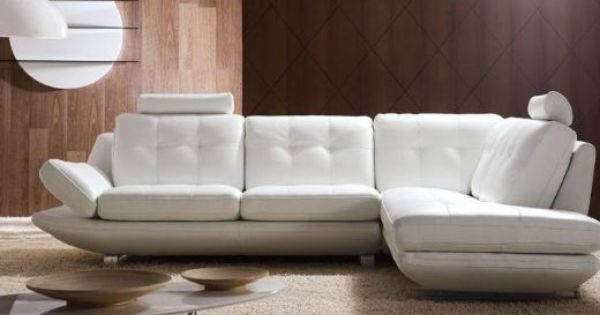 Modern White Leather Sofa Modern White Leather Sofa 3
