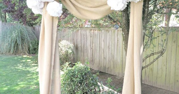 Burlap Wedding Arch for photo booth - Burlap Projects
