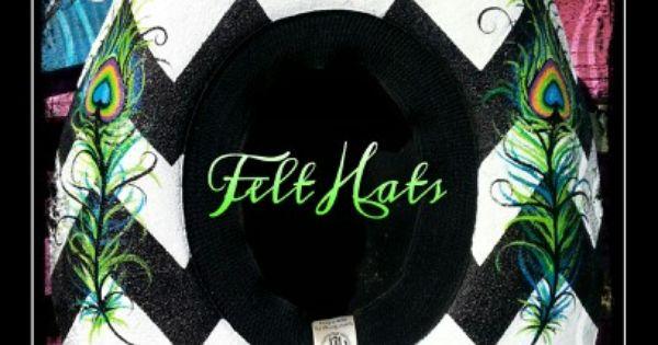 hands painted felt hats find me on fb leather. Black Bedroom Furniture Sets. Home Design Ideas
