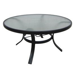 Garden Treasures Lake Notterly 36 In Glass Top Steel Frame Round