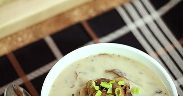 Cream of Mushroom Soup with White Wine and Leeks | Recipe | Cream Of ...