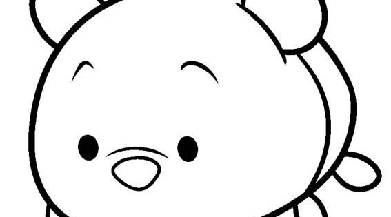 Dibujos Tsum Tsum Dibujos Para Colorear: Disney Tsum Tsum Para Colorear Winnie Pooh