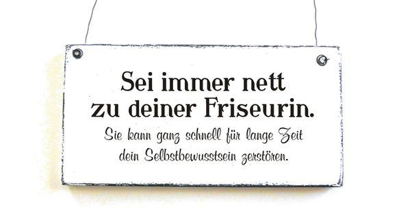 Dekoschild Deine Friseurin Turchild Holzschild Friseur Spruche Coole Spruche Gedichte Und Spruche