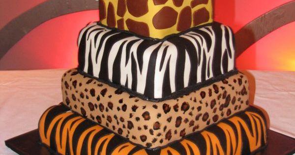 animal print cake!